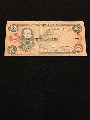 Bank Of Jamaica $2 Banknote 1993