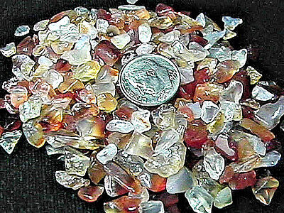 Gemstone Embellishment Natural Carnelian Small UNDRILLED Chips 50g (1.75 oz)