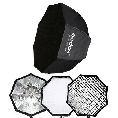 Godox 120cm Photography Umbrella Octagon Softbox with Grid For SpeedLight Flash