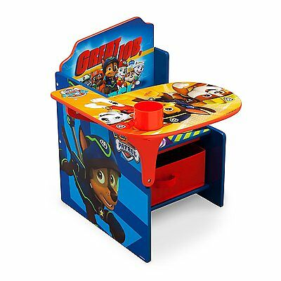 Delta Paw Patrol Dog Desk with Chair and Toy Storage Bin Box Organizer NEW NIB