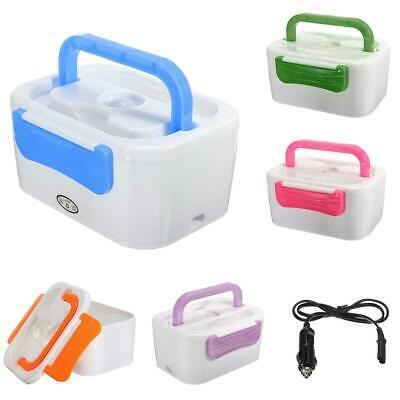Portable 12V Car Plug Heating Lunch Box Electric Heated Bento Food Warmer 5Color