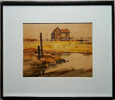 Ritchie A. Benson - Turbat's Creek Maine LISTED CALIFORNIA Watercolor Signed