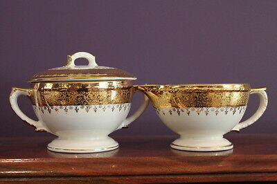 Vtg. Taylor Smith Taylor Usa Eastern China 22K Gold Cream And Covered Sugar