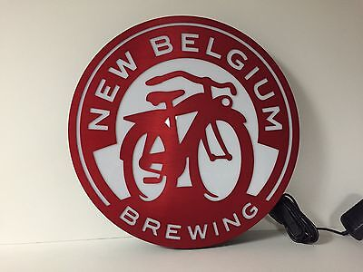 """New Belgium Brewing Fat Tire LED Sign ~ NEW In Box ~ 16"""" ~ Aluminum Nice Quality"""