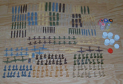 Axis and Allies 1984 Ships Planes Tanks Infantry Chips Markers Parts Pieces Lot