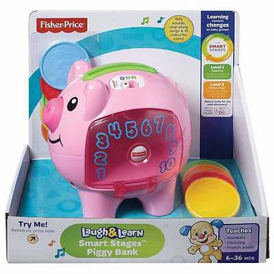 NEW Fisher-Price Laugh and Learn Smart Stages Piggy Bank RRP $39.99