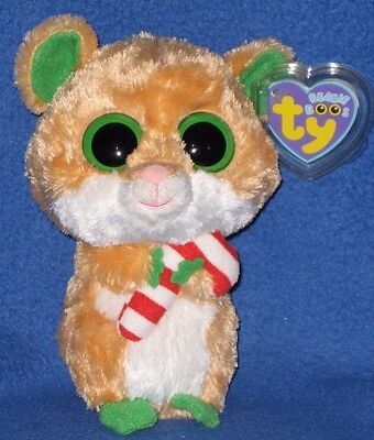 "TY BEANIE BOOS BOO'S - CANDY CANE the 6"" HAMSTER - MINT with MINT TAGS"