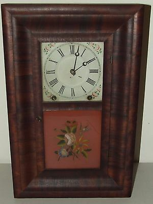 ANTIQUE 1860's Miniature Ansonia Brass Co OGEE OG Mahogany Rosewood MANTEL CLOCK