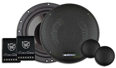 SOUNDSTREAM TARANTULA SSTv2.65CS 120W RMS 6.5 INCH 2-WAY COMPONENT SPEAKERS PAIR