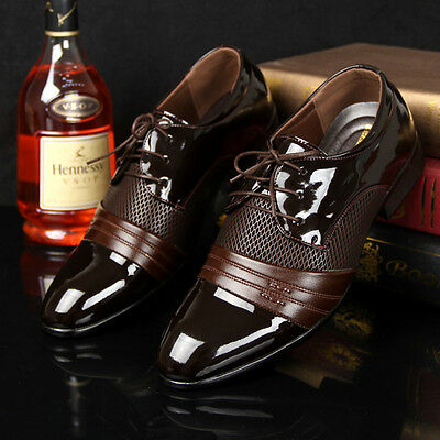 Men's Oxfords Leather shoes Dress Formal  Business Casual Fashion Large Size New