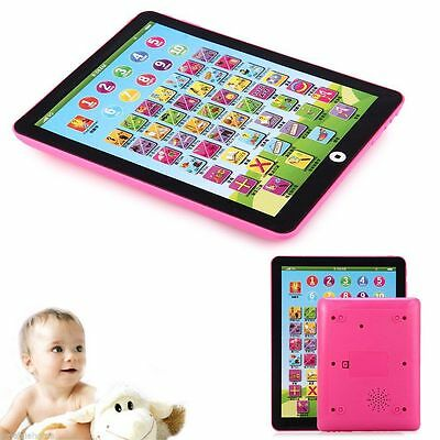 Kids Children English Learning Pad Toy Educational Computer Tablet Pink!