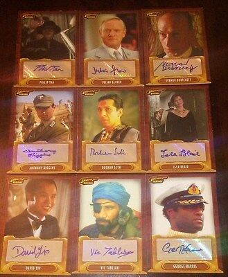 Indiana Jones TOPPS HERITAGE 9-CARD auto/ autograph lot
