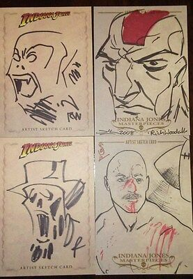 Indiana Jones TOPPS HERITAGE/masterpieces  4-card sketch lot