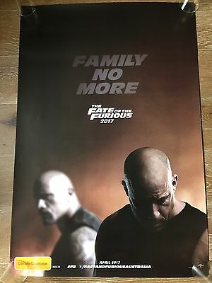 THE FATE OF THE FURIOUS One Sheet Movie Poster Vin Diesel