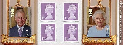 GB 2016 HM THE QUEEN'S 90th BIRTHDAY STAMPS RETAIL BOOKLET CYLINDER Book 1 PM50