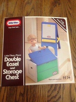 Little Tikes Place Double Easel & Storage Chest 5593 Set For Dollhouse With Box