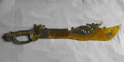 antique   Chinese ancient weapon bronze sword scabbard