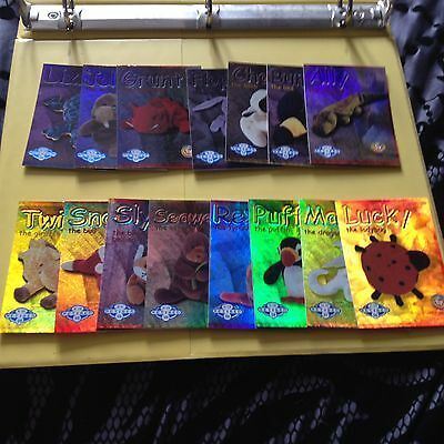 Rare TY Beanie babies Trading cards Retired Blue set of 15 Series 2 US edition