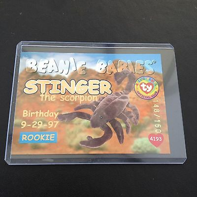 Rare TY Beanie babies Trading card Gold Stinger 148/150 Series 1
