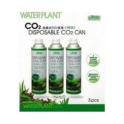 3 PACK ISTA WATERPLANT DISPOSABLE Co2 CAN BOTTLE LIVE AQUARIUM PLANT 3 CANS