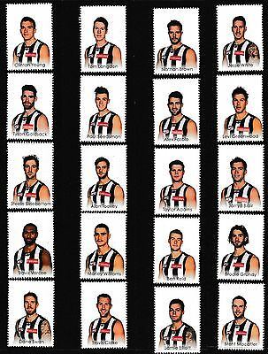 AFL 2015 Collingwood footy players 20 stamp tabs & captain collector card