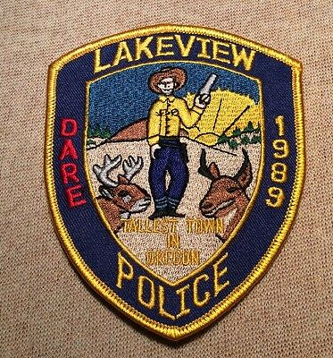OR Lakeview Oregon DARE Police Patch
