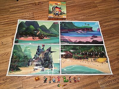 Jake And The Neverland Pirates My Busy Book + 11 Character Figures & Playmat VGC