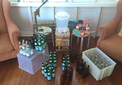 Home brew starter kit beer capping bottles brewing Coopers Tooheys