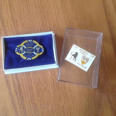 Enamel Football Badges  Stuttgart/Chelsea Cup Final 1998