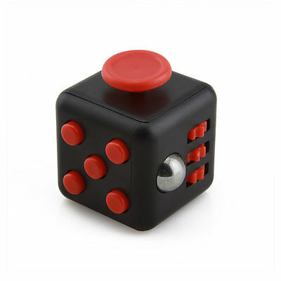 1-5Packs Black Red Fidget Cube Anxiety Stress Attention Relief Toy Gift and Case