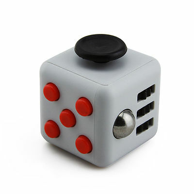 1-5Packs Grey Red Fidget Cube Anxiety Stress Attention Relief Toy Gifts and Case