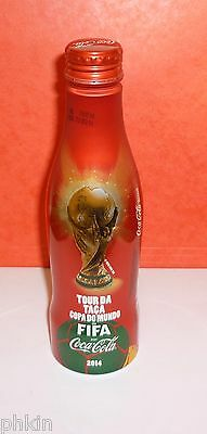 "1 Bouteille / Bottle Coca Cola  Alu "" World Cup 2014 Fifa Bresil  "" Pleine Full"