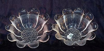 Two Boxed Dartington Glass Salad  Fruit Dish Thrower FT1863 Daisy Collection