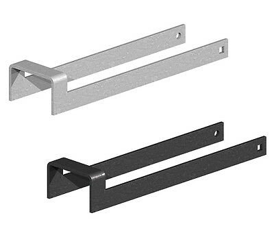 "Throw Over Loop Gate Latch 2""/3"" Wide Galvanised or Black 12""/14"" Long Throwover"