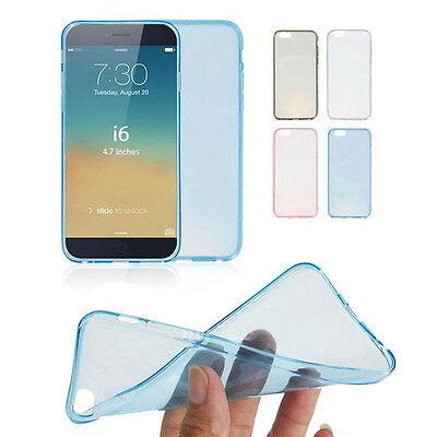 Ultra Thin Slim Crystal Clear Soft TPU Cover Case Skin for Apple iPhone 6 4.7""