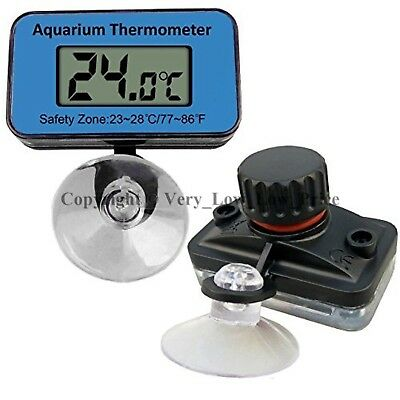 UK LCD Digital Waterproof Fish Aquarium Meter Water Tank Temperature Thermometer