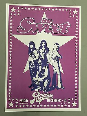 Sweet - Concert Poster - Rainbow London 21St December 1973   (A3 Size)