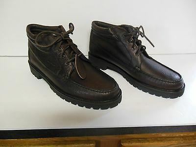 Mens Sebago Dark Brown Waterproof Leather Lace Up Hike Work Boots Size 11 M USA!