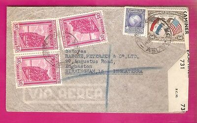 PARAGUAY..... 1940s Airmail cover  .........CENSORED........REGISTERED