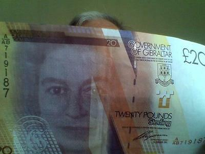 Gibraltar  £20.. bank note in very good condition
