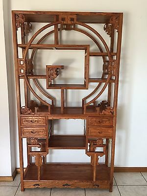 198CM Hand-carved Wooden Chinese Antique Display Shelf
