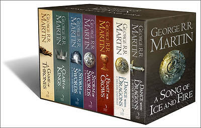 A Song Of Ice And Fire A Game Of Thrones 7 Book Box Set Westeros And Cities Map