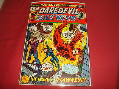 DAREDEVIL AND THE BLACK WIDOW #99 Hawkeye The Avengers Marvel Comics 1973 FN