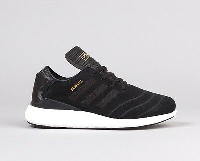 Adidas Busenitz Pure Boost - Black White - Uk 7 8 9 Trainers Shoes Running New