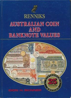 Renniks Australian Coin & Banknote Values , 1989, 354 pgs. Inc Tokens etc.