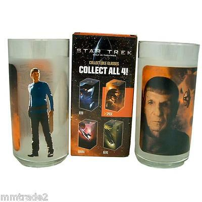 "2009 BURGER KING Collectible STAR TREK 6"" Frosted Drinking Glass KIRK Boxed NEW"