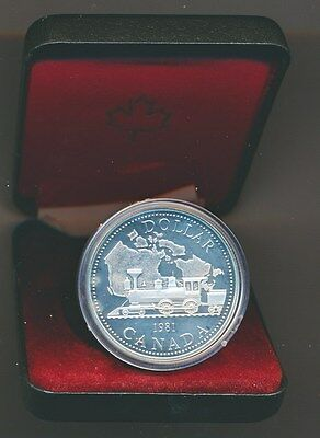 Canada: 1981 $1 Silver Train Engine Proof in Mint Case