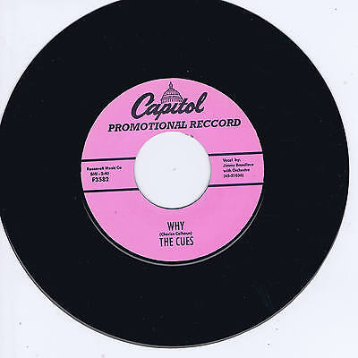 THE CUES - WHY / KILLER DILLER (All Time Top 10 Rockin' Doo-Wop JIVERS) NEW !!!