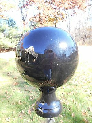 Black ball finial yard decor door knob newel post fence cap