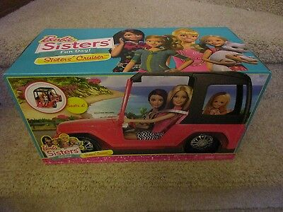 Barbie Sisters' Fun Day Cruiser Vehicle Jeep Car Toy seats 4 Off road camping